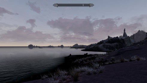 Beautiful northern shores of Skyrim